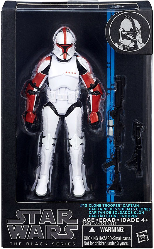 "HASBRO Star Wars The Black Series 6"" Action Figure Clone Trooper Captain #13"