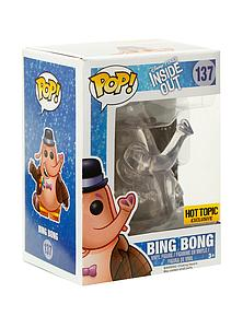 Pop! Disney-Pixar Inside Out Vinyl Figure Bing Bong (Clear) #137 Hot Topic Exclusive