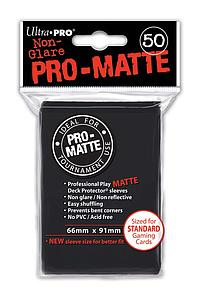 Non-Glare Pro-Matte: Black Standard Card Sleeves (66mm x 91mm)