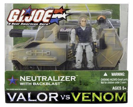 Venom Joe Neutralizer with Backblast Valor VS Hasbro G.I