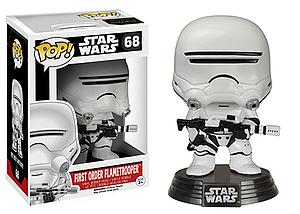 Pop! Star Wars The Force Awakens Vinyl Bobble-Head First Order FlameTrooper #68 (Vaulted)