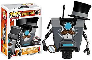 Pop! Games Borderlands Vinyl Figure Gentleman Claptrap (Clap Trap) #46 EB Games / GameStop Exclusive