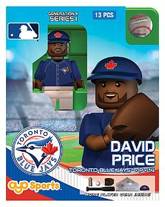 OYO Toys MLB Generations OYO Building Brick Minifigure: David Price Blue Jersey (Toronto Blue Jays)