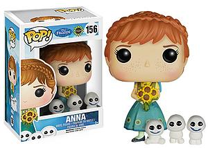 Pop! Disney Frozen Vinyl Figure Fever Anna #156 (Vaulted)