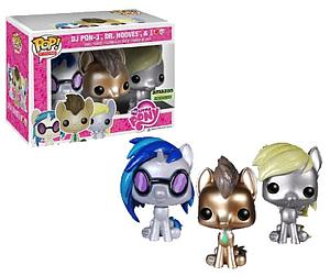 Pop! My Little Pony Vinyl Figure 3-Pack DJ Pon-3, Dr. Hooves, & Derpy Glitter Amazon Exclusive