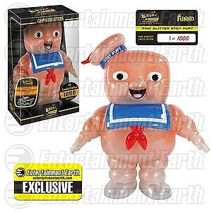 Hikari Sofubi Ghostbusters Japanese Vinyl Figure Pink Glitter Stay Puft Entertainment Earth Exclusive