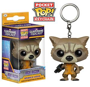 Pop! Pocket Keychain Guardians of the Galaxy Vinyl Figure Rocket Raccoon
