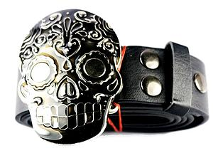 Day of the Dead Belt Skull