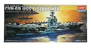 CVN-69 USS Eisenhower Ship Model Kit (1:800 Scale)