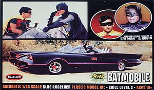 Batman 1966 Batmobile with Batman & Robin Model Kit (1:25 Scale)