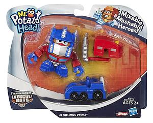 Mr. Potato Head Transformers Rescue Bots Mixable Mashable Heroes Optimus Prime