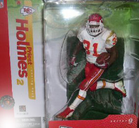 NFL Sportspicks Series 9: Priest Holmes White Jersey Variant (Kansas City Chiefs)
