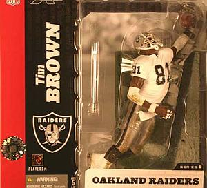 NFL Sportspicks Series 8: Tim Brown White Jersey Variant (Oakland Raiders)