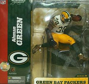 NFL Sportspicks Series 8: Ahman Green White Jersey Variant (Green Bay Packers)
