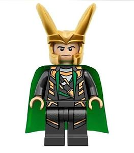 Marvel Comics SuperHeroes Minifigure: Loki with Scepter