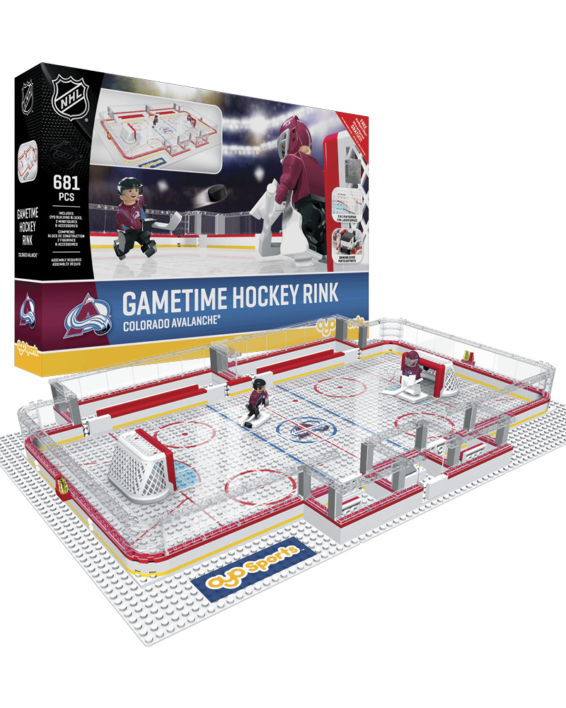 detailed look f4177 8f006 NHL Hockey Minifigures: Gametime Hockey Rink (Colorado Avalanches)