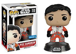Pop! Star Wars The Force Awakens Vinyl Bobble-Head Poe Dameron (No Helmet) #72 Walmart Exclusive