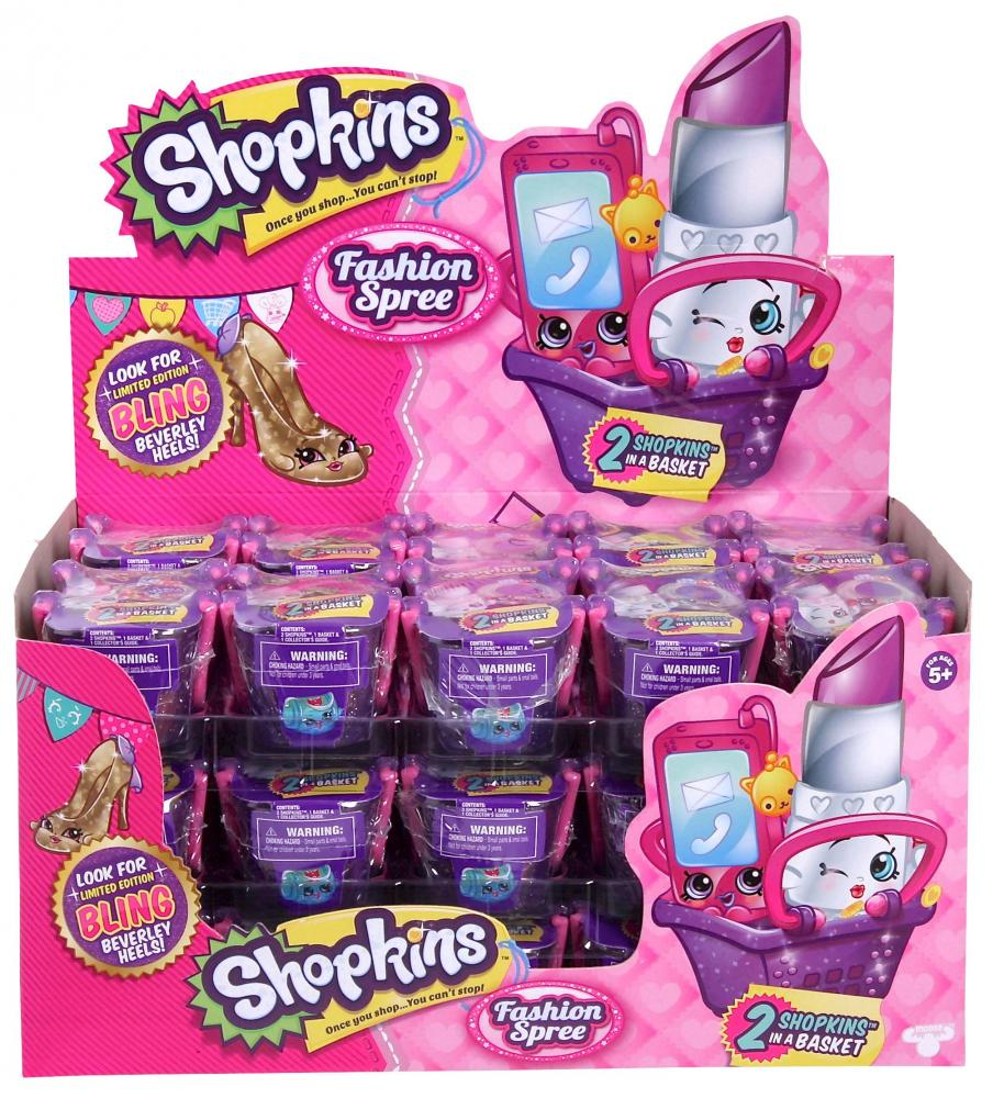 Shopkins Season 4 Fashion Spree 2 Pack Mini Figures Shopping Basket Box 30 Baskets