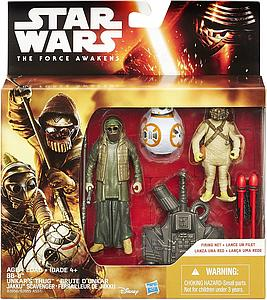 "HASBRO Star Wars The Force Awakens 3-Pack 4"" Action Figure BB-8, Unkar's Thug & Jakku Scavenger"