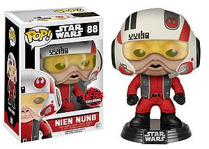 Pop! Star Wars The Force Awakens Vinyl Bobble-Head Nien Nunb #88 EB Games / Gamestop Exclusive