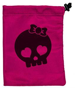 Dice Bag: Treasure Chest Skull Pink