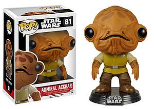 Pop! Star Wars The Force Awakens Vinyl Bobble-Head Admiral Ackbar #81 (Retired)