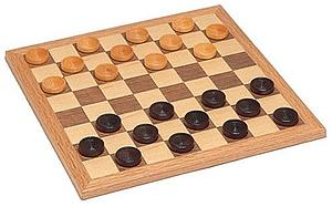 Checkers Set Walnut Natural