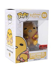 Pop! Sanrio Gudetama Vinyl Figure Gudetama with Bacon #09 Hot Topic Exclusive Pre-Release
