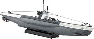 German U-Boot Type VII C Submarine Model Kit (1:350 Scale)