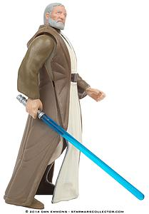 "Star Wars The Power of the Force 3.75"" Action Figure Ben (Obi-Wan) Kenobi with Lightsaber and Removable Cloak (Biligual Package)"