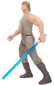 "Star Wars The Power of the Force 3.75"" Action Figure Luke Skywalker in Dagobah fatigues with Lightsaber and Blaster Pistol (Bilingual Package)"