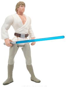 "Star Wars The Power of the Force 3.75"" Action Figure Luke Skywalker with Grappling-Hook Blaster and Lightsaber (Bilingual Package)"