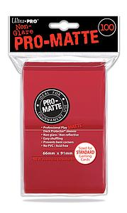 Non-Glare Pro-Matte: Red Standard Card Sleeves (66mm x 91mm)