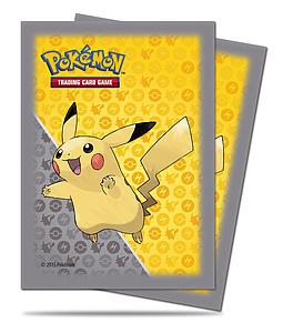 Pikachu Grey Standard Card Sleeves (66mm x 91mm)