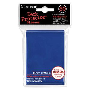 Blue Standard Card Sleeves (66mm x 91mm)