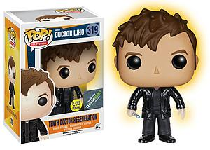 Pop! Television Doctor Who Vinyl Figure Tenth Doctor Regeneration (Glows in the Dark) #319 Think Geek Exclusive