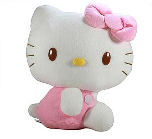 "Sanrio Plush Hello Kitty Pink Overalls (11"")"