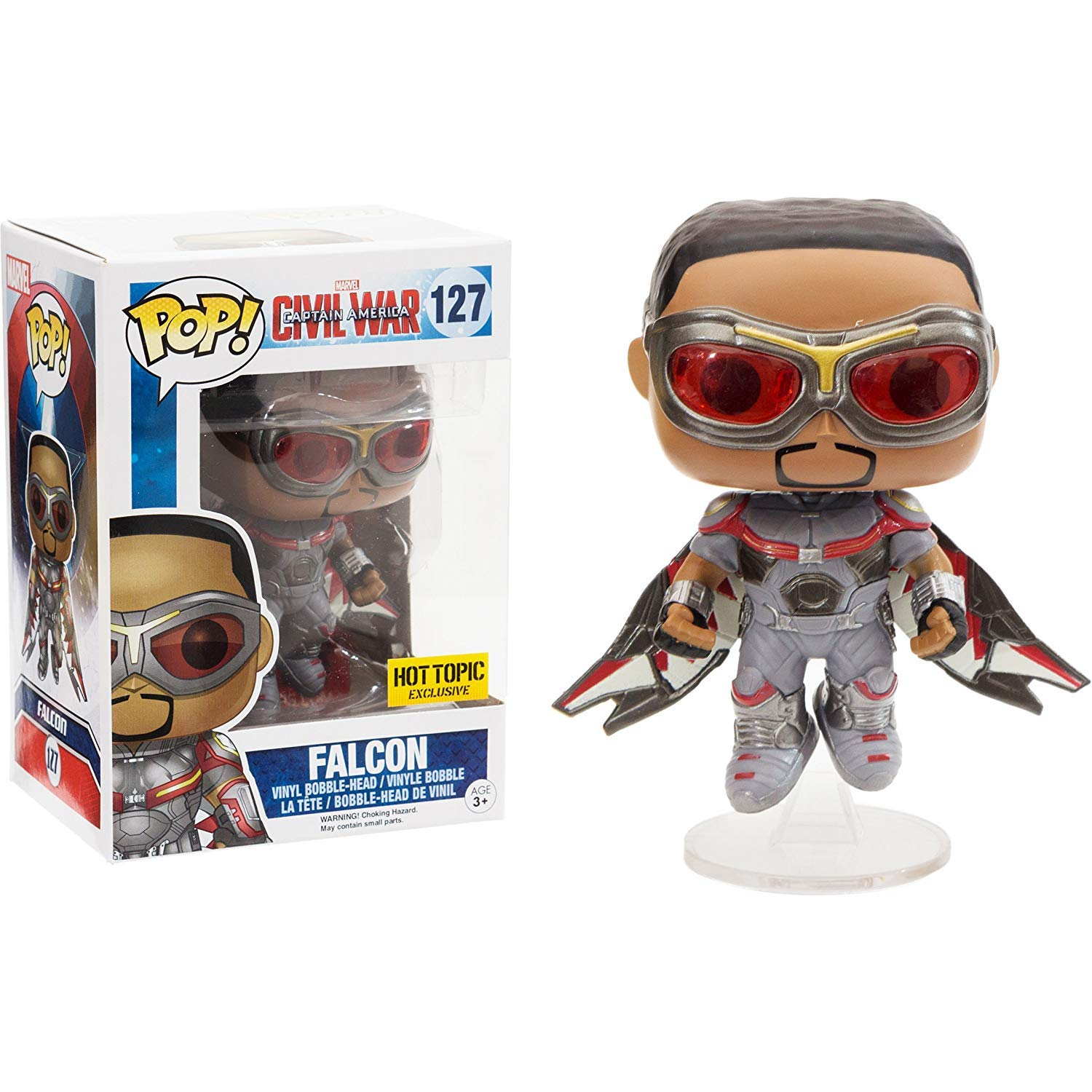 Pop! Marvel Captain America Civil War Vinyl Bobble-Head Falcon #127 Hot Topic Exclusive