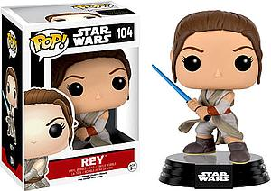 Pop! Star Wars The Force Awakens Vinyl Bobble-Head Rey (w/ Lightsaber) #104 (Vaulted)