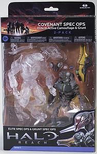 Halo Reach 6 Inch Series 5 Two-Pack: Covenant Spec Ops (Elite in Active Camouflage & Grunt)