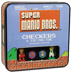 Super Mario Bros. Checkers Set & Tic Tac Toe Collector's Edition