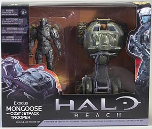 Halo Reach 6 Inch Series 2 Vehicle and Figure Set: Exodus Mongoose with ODST Jetpack Trooper