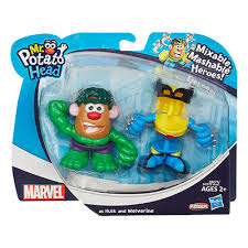 Mr. Potato Head Marvel Mixable Mashable Heroes Hulk & Wolverine