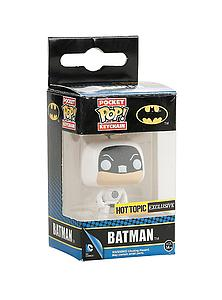 Pop! Pocket Keychain DC Comics Vinyl Figure Batman White Target Suit Hot Topic Exclusive