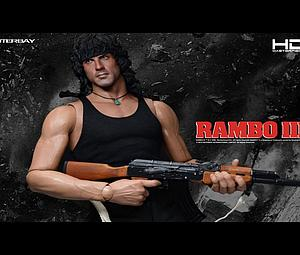 "Enterbay Rambo III 18"" Doll Figure HD Masterpiece Series - John Rambo HD"