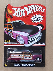 Hot Wheels 2013 Collector Edition Cars Die-Cast: Purple Passion Woody