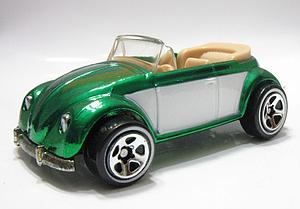 Hot Wheels Classics Series 2 Cars Die-Cast: VW Bug Convertible (Green)