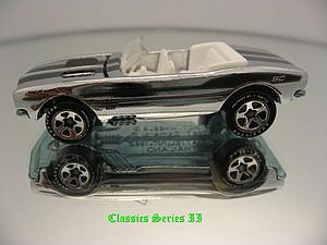 Hot Wheels Classics Cars Die-Cast: 1967 Camaro Convertible (Chrome)