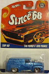 Hot Wheels Since '68 Top 40 Cars Die-Cast: '56 Ford F-100 Panel
