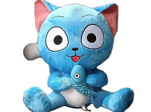 "Fairy Tail Plush Happy with Fish (12"")"